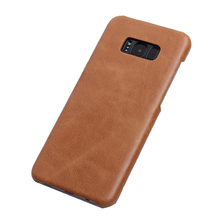 Business genuine leather phone case for samsung galaxy s8 case
