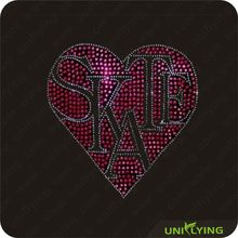 2013 Popular item skate rhinestone iron on transfer