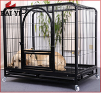 Large Steel Iron Square Tube Dog Cage Made In China