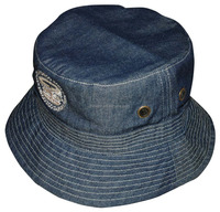 Top quality embroidered denim bucket hat