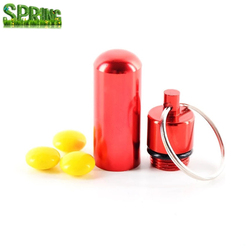 Quality metal medicine pill bottle /Outdoors small container aluminum pill box holder