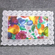 PVC custom printed placemats with lace border