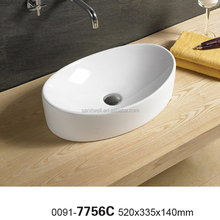 Modern qualified oval shaped bathroom art wash hand basin