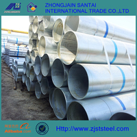ST42 300mm diameter galvanized steel pipe price per kg