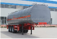 3 Axles hot sale insulated heated bitumen transportation tankers semi trailer from china manufacturer