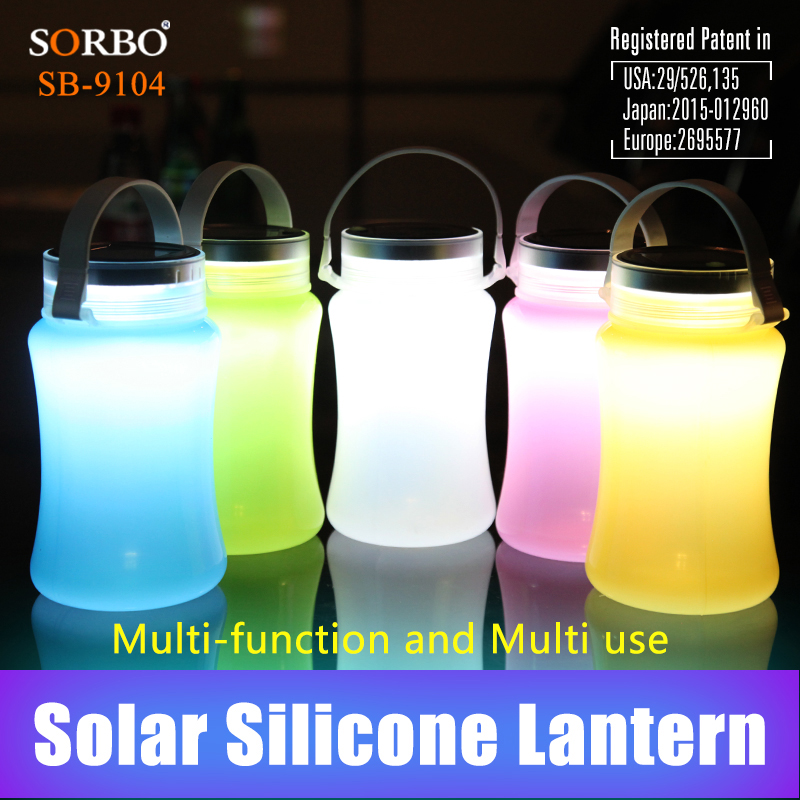 SORBO FDA Approved Multi-function Portable Food-grad Silicone Food Storage Container with Solar LED Lighting