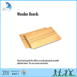 Movable small Educational Montessori wood board for alphabet