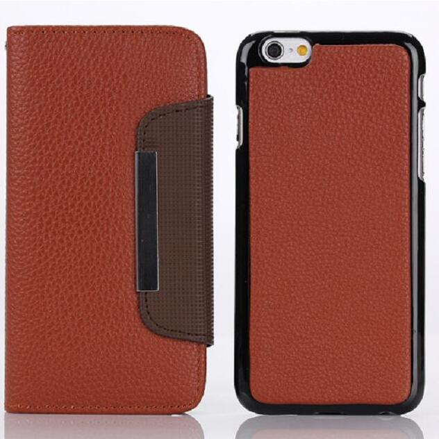 6/6 plus Fashion Luxury Magnetic Detachable Wallet Leather Case Cover For iPhone 5/5s 5c 6/6s 6plus For Samsung Galaxy Note4