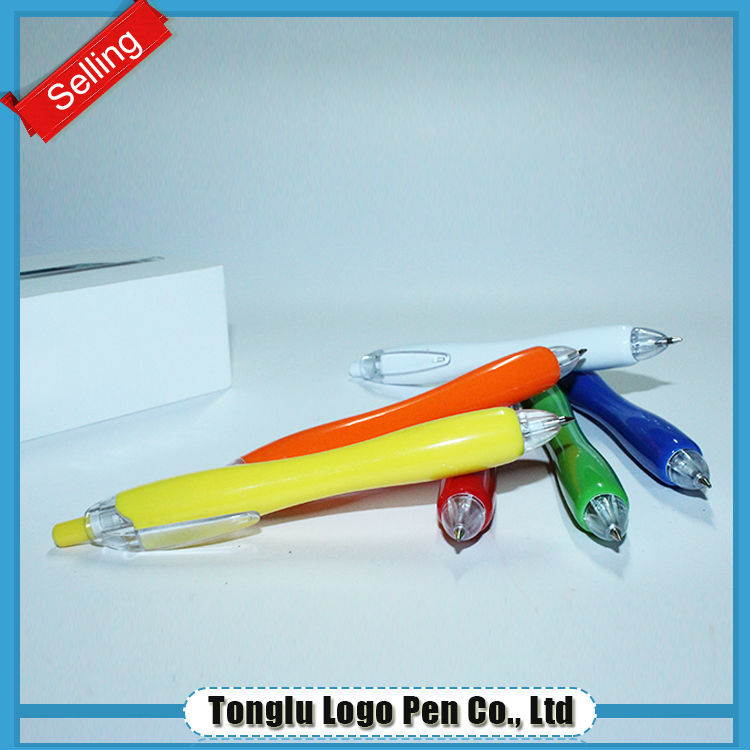 Promotional retractable plastic pen box parts promotional plastic ball