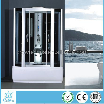 2016 rectangular hydro massage Italian steam shower cabin