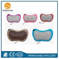 Promotional back massager electric massage pillow body masager PU leather neck back massage as seen TV