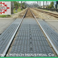 Railway Rail Level Rubber Crossing