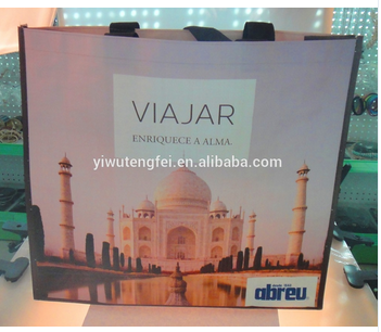 promotion laminated pp woven shopping bag