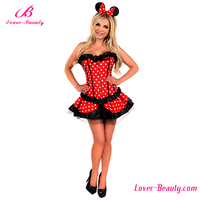 Lovely corset fancy dress women sexy animal costumes for adults