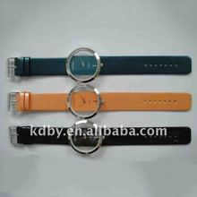 International top brand see through ladies leather wrist watch
