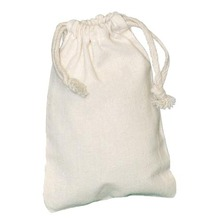 High quality cheap strong drawstring cotton bag natural promotional pouch drawstring bag wholesale