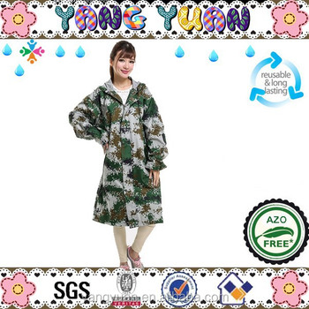 Ladies Waterproof Camouflage Raincoats Rain coats