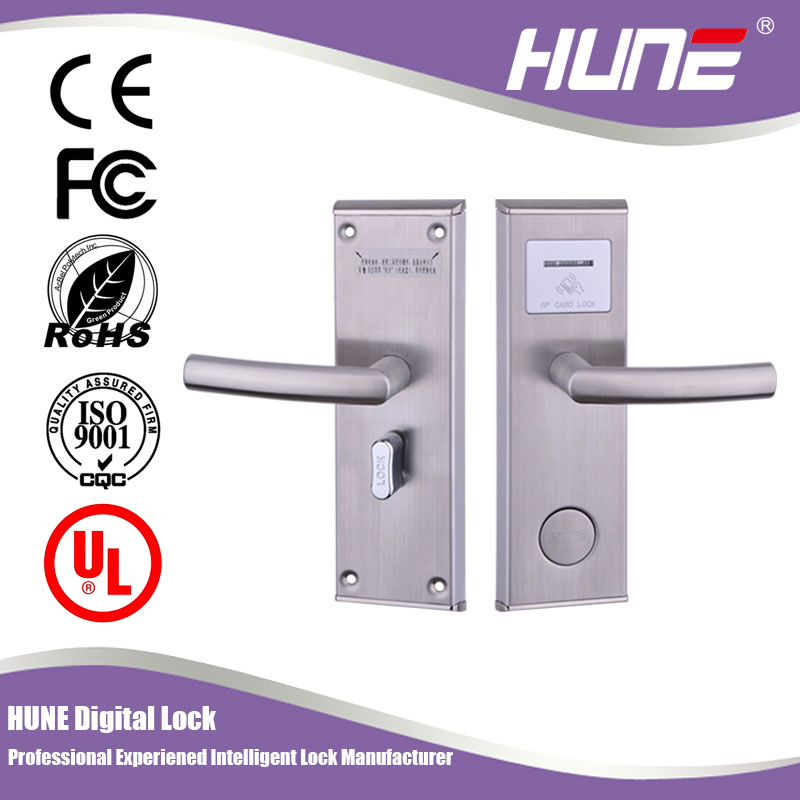 card operated electronic rf hotel door locks with ANSI mortise