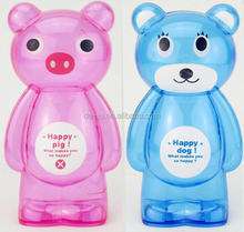 Lovely Large Bear Transparent Piggy Bank