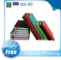FSC Promotion colored PU cover school Leather Notebook with elastic band