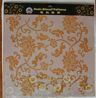 European Plastic painting wall pattern stencil