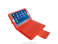 Folio Wireless Leather Bluetooth Keyboard Case with Stand for iPad Mini 2