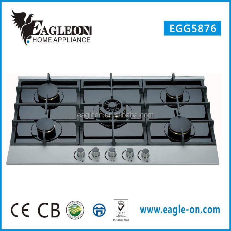 Roasting poblanos on gas stove