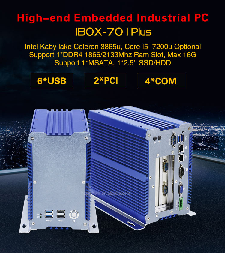 2018 NEW industrial computer IPC 3865U i5 7200U with win 7 8 dual lan x86 computer with RS232