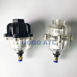 "10bar Pneumatic air filter fittings for Air compressor Precision Manual drain and Auto drain 1/2"" water filter system"