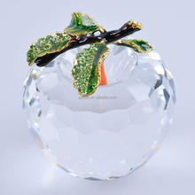 80mm New Year Chirstmas Tree Hanging Cut White crystal Glass Apple Ornaments decoration 2017 Navidad Home natal decor