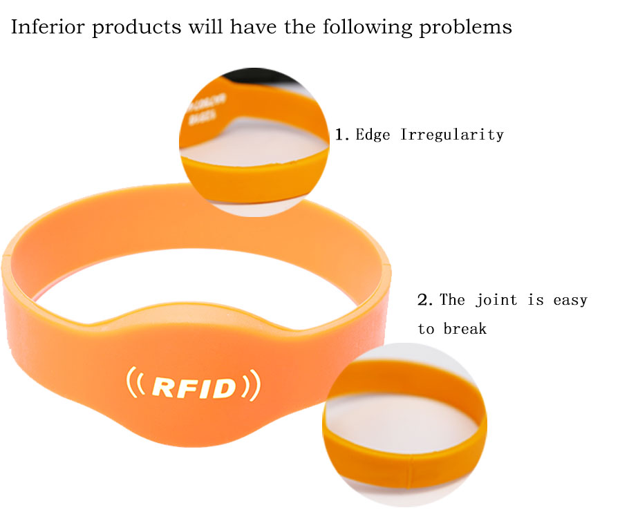 Children Oral Shape Band MF S70 4K Silicone RFID Wristband