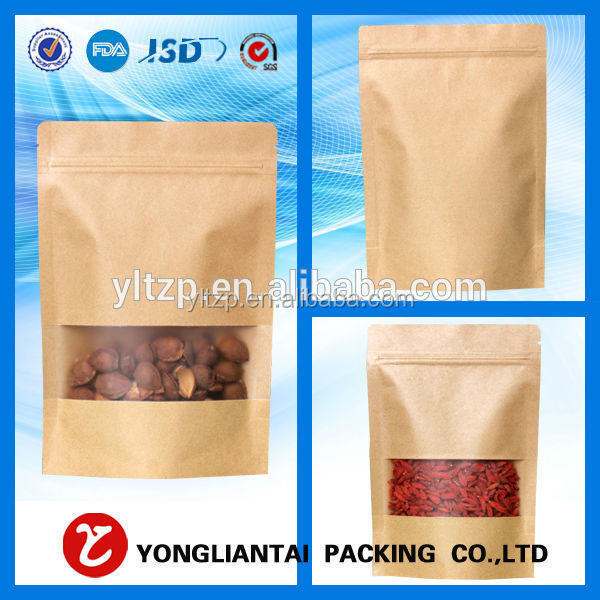 Eco-friendly Kraft paper bag for food/ Cheap craft paper bag/brown paper food packaging