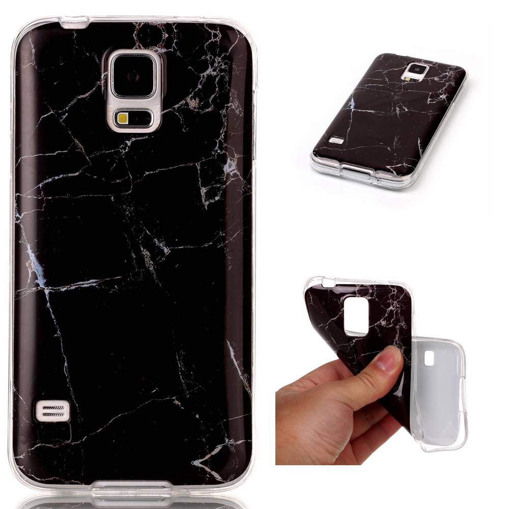 New TPU Gel Phone Protective Slim Cover Marble Back Case for Samsung Galaxy S5 i9600