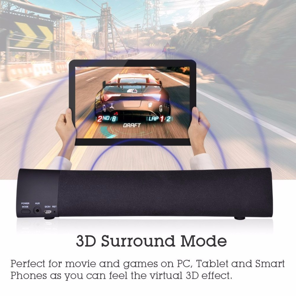 Multiple Sound Modes Mini Music Wireless Bluetooth Soundbar Speaker For Home Theater System