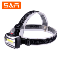 2017 Hot Style 150 Lumen Plastic 3 Modes Adjustable COB LED Headlamp AAA