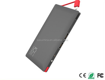 Professional Manuafcturer Mobile Slim Power Bank For Smartphone with printing logo