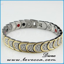 Negative ion, Germanium, FIR, Magnetic Bio Energy Titanium Energy Bracelet For Korea Market