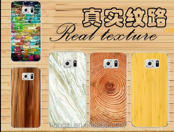 The marble fence Wood grain hard pc phone case cover for samsung s6 s5 s7 s7edge Support design customization