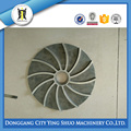 CUSTOMIZED STEEL LOST WAX CASTING SEMISHROUDED IMPELLER