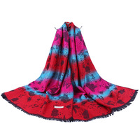 68*170 cm Multi Colors Butterfly Woven Jacquard Scarf and Stripe Daily Life shawl