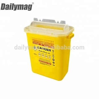 2018 Hot sale plastic Medical Waste sharps Containers small disposal container small 1.4L
