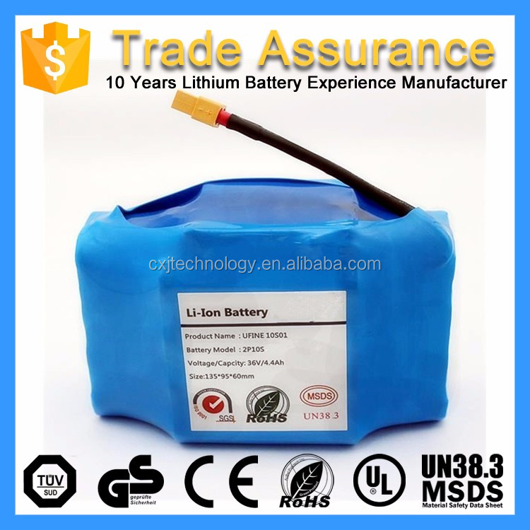 High Quality 36V 4.4Ah 10s2p Rechargeable Lithium Smart Balance Scooter Battery For Two Wheels Electric Scooter