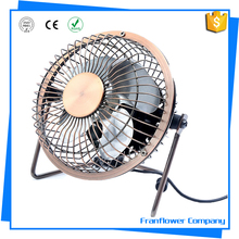 4inch/6inch USB Desk Fan Metal Archaistic Fan Mute Personal Mini Fan Small Table Fan with Switch on/off office travel