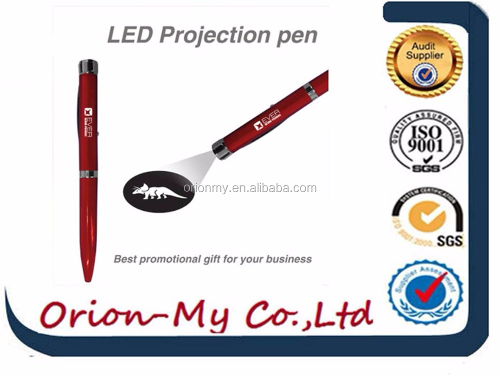 Pormotional customs led logo pen sized projector