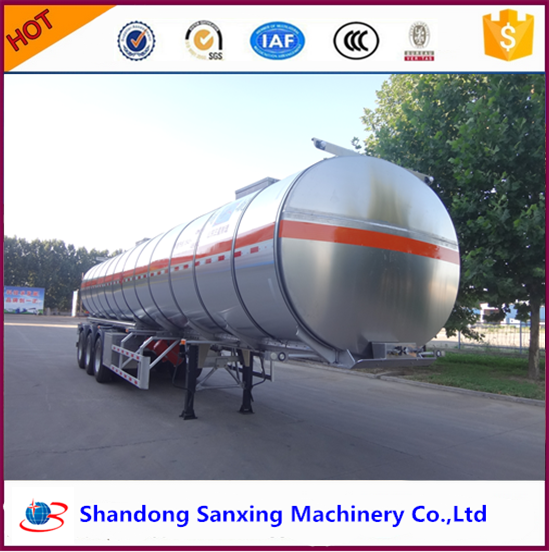Aluminium alloy chinese heavy semi 30~60CBM tanker for sale 3 wheel delivery vehicles