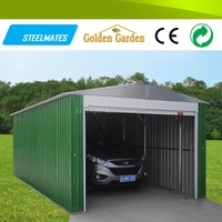 Prefabricated auto mower metal car garage