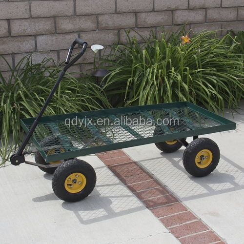 new wagon garden cart nursery trailer heavy duty cart yard gardening patio