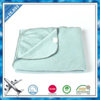 BSCI and SEDEX factory 100 polyester fire retardant fabric polar fleece airline blanket