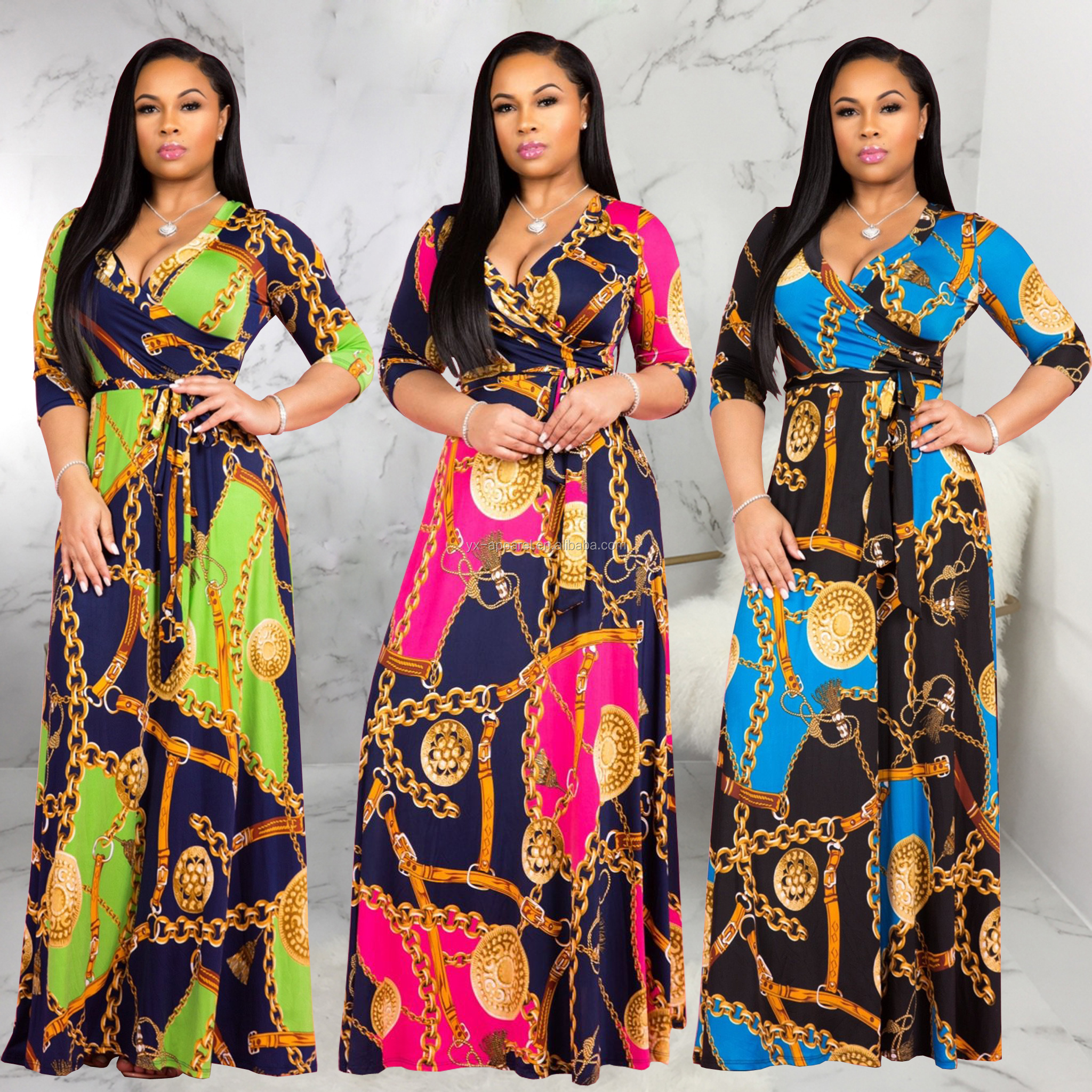 Sexy fashionable plus size african evening dresses