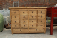 recycle pine wood chinese antique style medicine cabinet